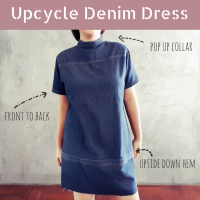 Upcycle Denim Dress : Front to Back