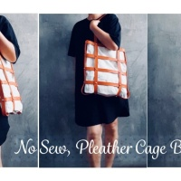 DIY Faux Leather Cage Bag - No Sew !