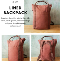 How to Sew a Lined Backpack Video Tutorial + pdf