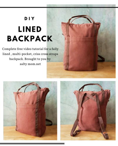 lined backpack