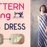 Pattern Manipulation Technique : Sew a Bias Tube Dress from Tank Top Pattern