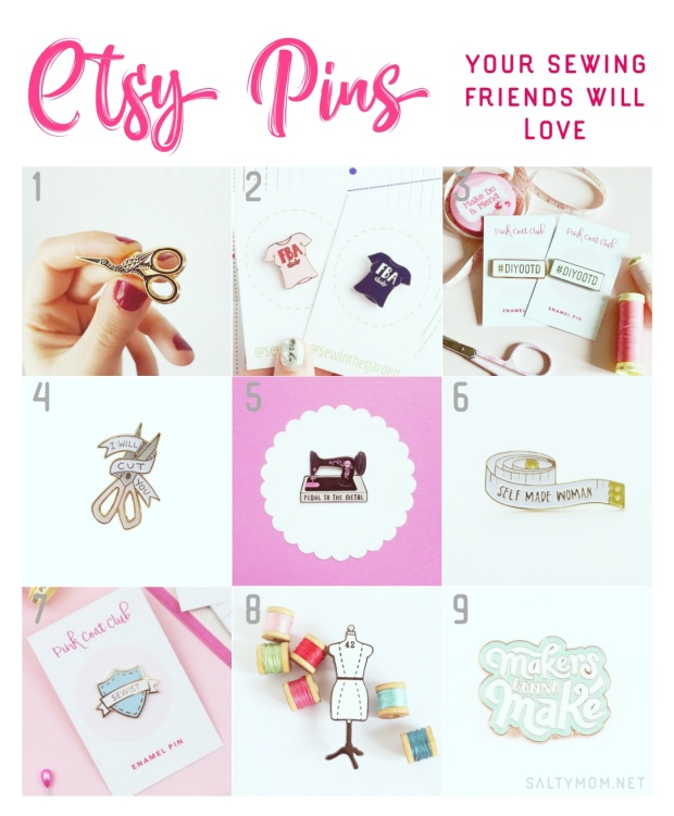 etsy enamel pins your sewing friends will love by saltymom.net