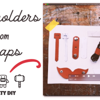 DIY Cord Holders from Scrap Pleather, many styles + free pattern download