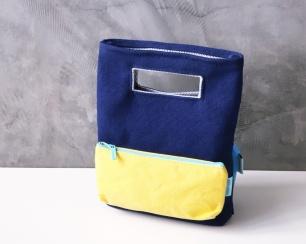 color block pencil case bag