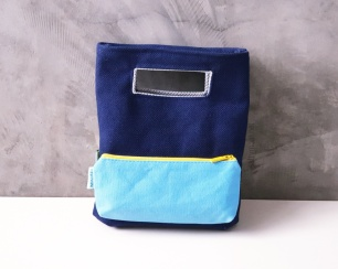 color block with pencil case