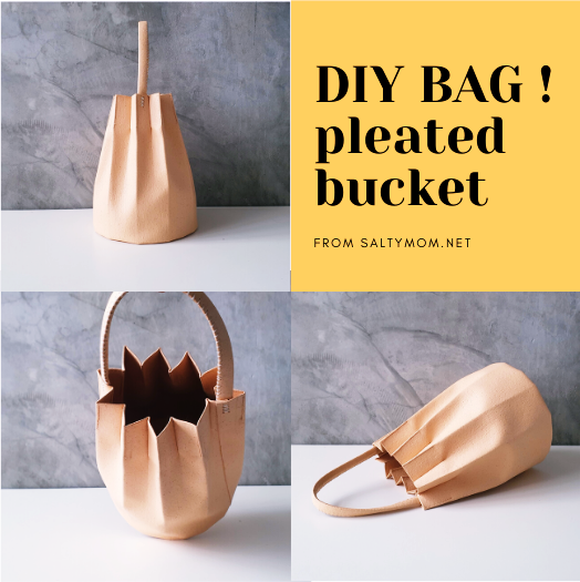 diy accordian fold pleated bucket bag by saltymom.net