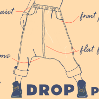 Draft n Sew Drop Crotch Pants Tutorial  ( with pattern download )