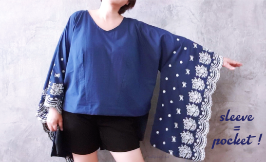 diy kaftan extra long pocket sleeve1