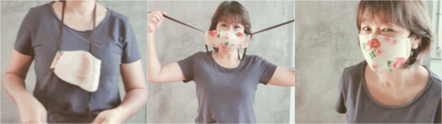 how to wear string tie surgical mask type