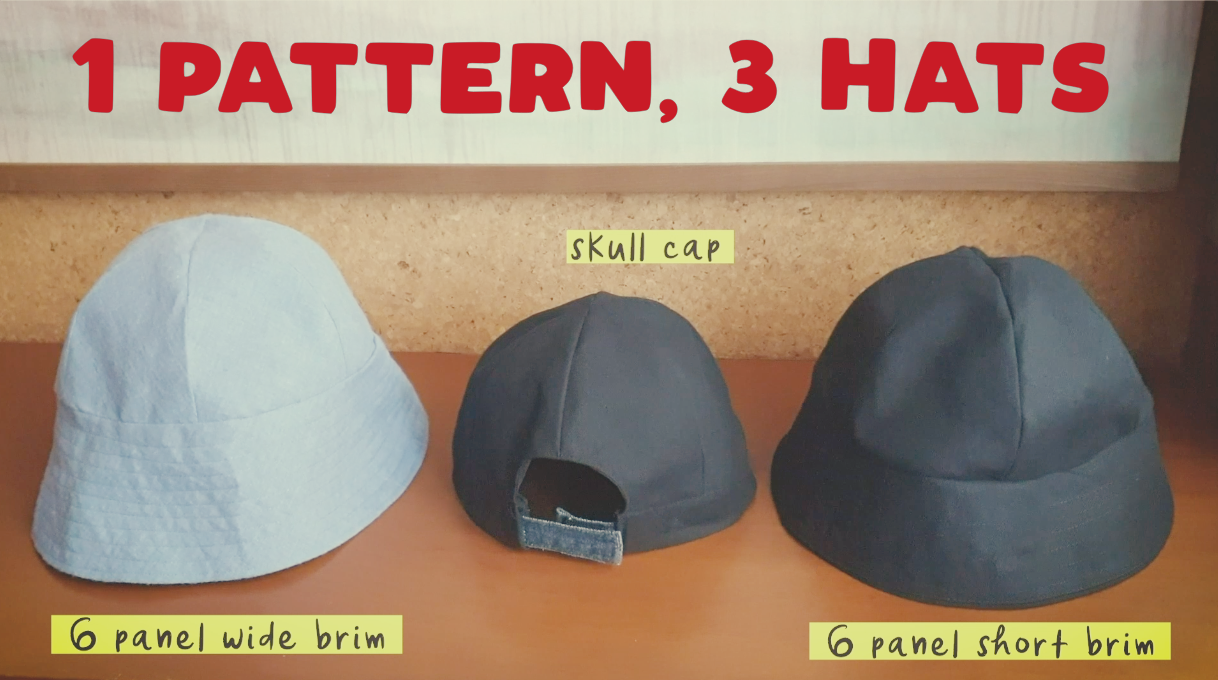 How To Sew 6 Panel Bucket Hat Skull Cap Free Download Salty Mom