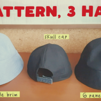How to Sew 6 Panel Bucket Hat + Skull Cap ( Free download )