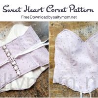 DIY Sweet Heart Corset Top